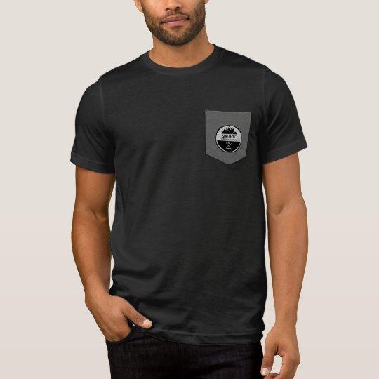 Camiseta original semi agitada del bolsillo