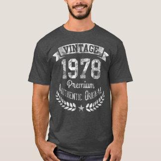 Camiseta Original superior del 40.o cumpleaños retro del