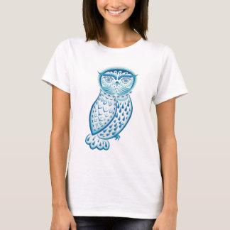 Camiseta Ornamental azul Owl2