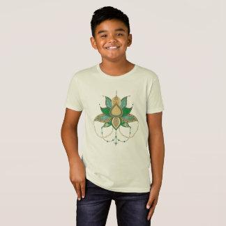 Camiseta Ornamento étnico de la mandala del loto de la flor