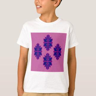 Camiseta Ornamentos populares púrpuras