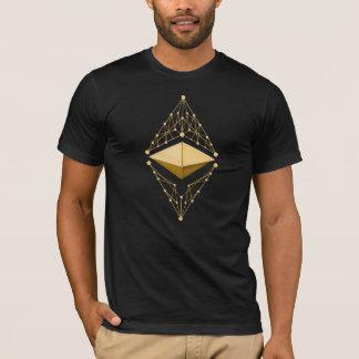 Camiseta Oro clásico de Ethereum (ningún texto)