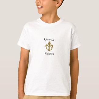 Camiseta oro de la flor de lis, Geaux, santos