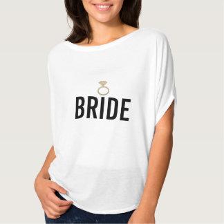 Camiseta - oro del anillo de la novia (Bling) W