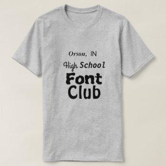 Camiseta Orson, EN club de la fuente de la High School