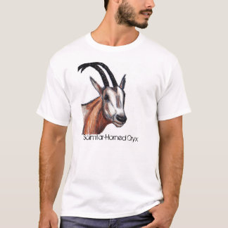 Camiseta-Oryx en peligro de la conciencia de la Camiseta