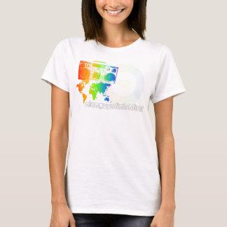 Camiseta oscilación por todo el mundo de señoras