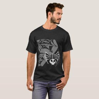 Camiseta oscura básica de la araña esquelética de