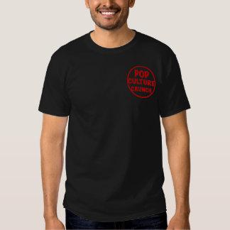Camiseta oscura básica del crujido del cultura Pop