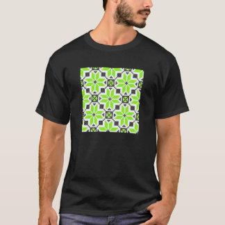 Camiseta oscura básica fresca del limón verde