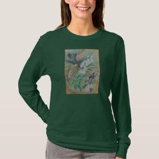 Camiseta oscura - colibrí y polilla
