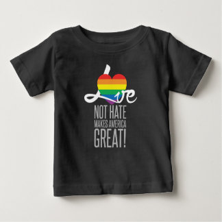 Camiseta oscura del jersey del bebé del odio del
