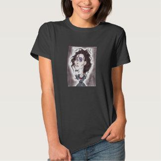 Camiseta oscura gótica del dibujo de la caricatura