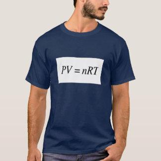 Camiseta oscura para hombre de la ley de gas ideal