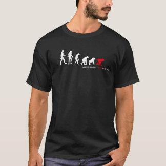 Camiseta Oscuridad de la evolución de Longboard