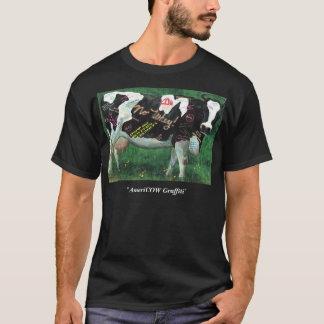 """Camiseta """"Oscuridad de la pintada de AmeriCOW"""""""