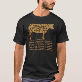 Camiseta Oscuridad divertida del diagrama de la vaca
