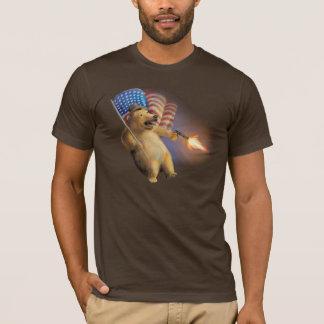 Camiseta Oso con un arma los E.E.U.U.