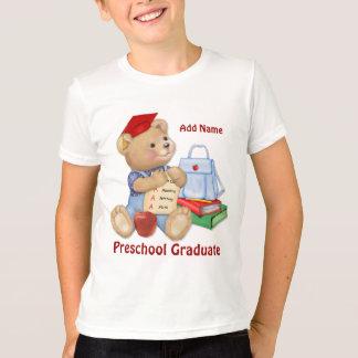 Camiseta Oso de la escuela - graduado del preescolar