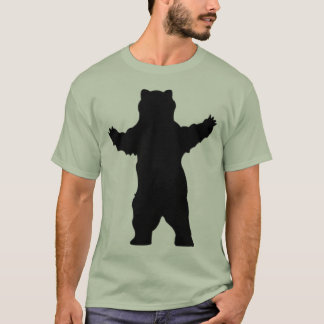 Camiseta oso grizzly de la silueta