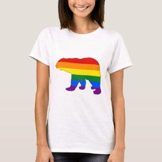 Camiseta Oso polar del arco iris