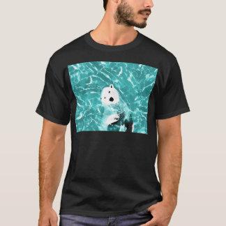 Camiseta Oso polar juguetón en diseño del agua de la