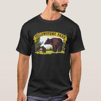 Camiseta Osos de Brown del vintage en el parque nacional de