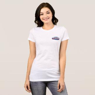 Camiseta oval delantera de las señoras del área