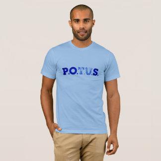 Camiseta P.P.O.S. Hombres azules de las declaraciones ultra