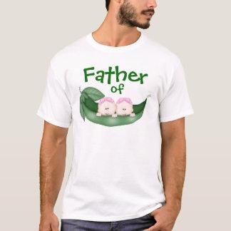 Camiseta Padre de chicas gemelos