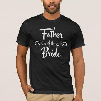 Camiseta Padre de la cena divertida del ensayo de la novia