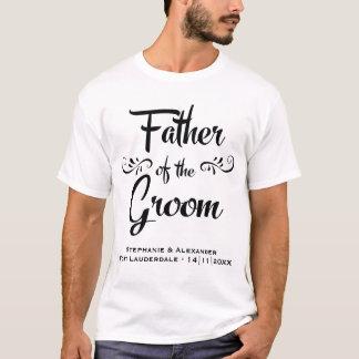 Camiseta Padre del novio - cena divertida del ensayo