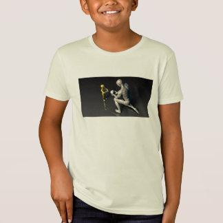 Camiseta Padre que comunica la sabiduría a su niño o hijo