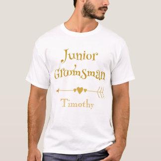 Camiseta Padrino de boda de oro del joven de la fuente