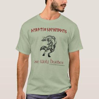 Camiseta pagana racional pagana del lobo solitario