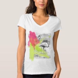 Camiseta Pájaro del flamenco de la playa del movimiento de