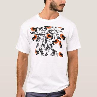 Camiseta pájaros anaranjados