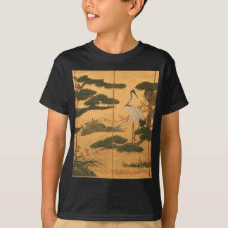 Camiseta Pájaros y flores de las cuatro estaciones