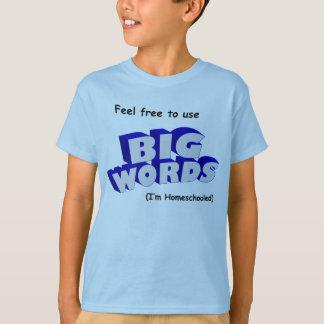 Camiseta ¡Palabras grandes!