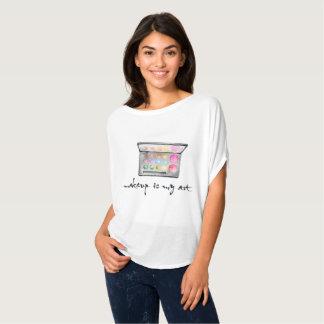 "Camiseta Paleta del artista de maquillaje - el ""maquillaje"