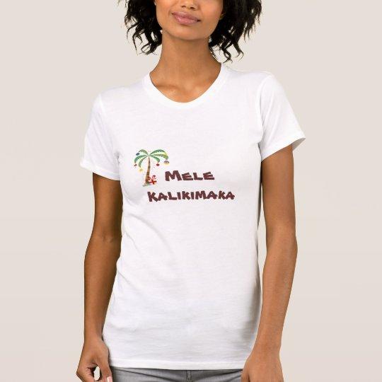 Camiseta palm_tree_xmas, Mele Kalikimaka
