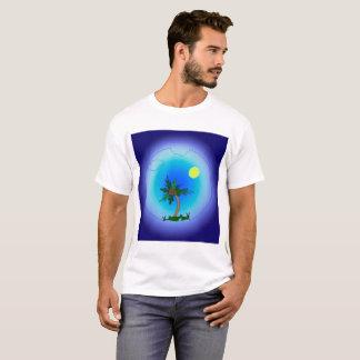 Camiseta Palmera en el mar