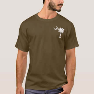Camiseta Palmetto blanco del bolsillo