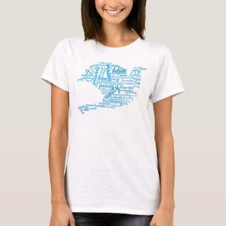 Camiseta Paloma elegante inspirada de la nube de la