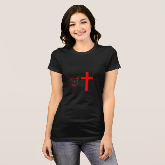 Camiseta Paloma y cruz