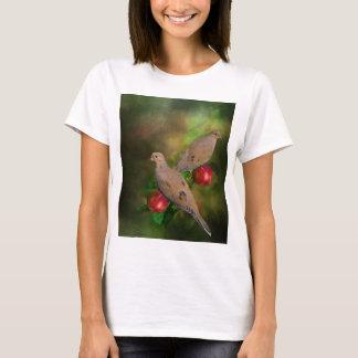 Camiseta Palomas de luto en el manzano - Pintura
