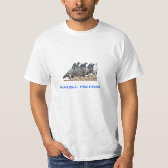 Camiseta palomas mensajeras sobre el tejado