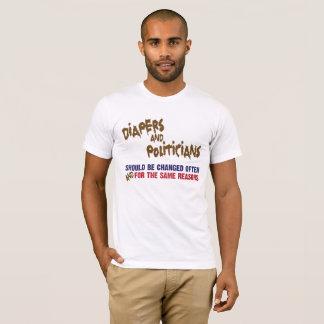"""Camiseta """"Pañales y políticos """""""