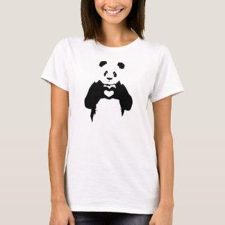 Camiseta panda corazón
