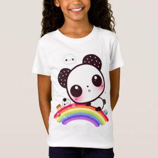 Camiseta Panda linda con la comida del kawaii en el arco